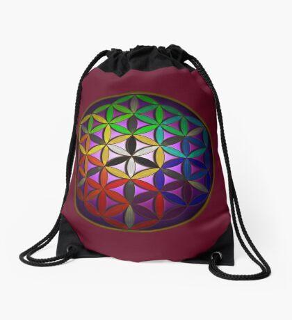 flower of life (spectral) Drawstring Bag