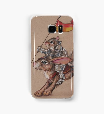 Squirrel in Shining Armor with trusted Bunny Steed  Samsung Galaxy Case/Skin