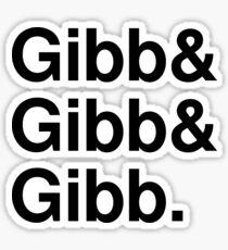 Bee Gees list Sticker