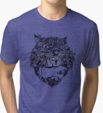 Natures New Look - Tiger Pattern Design  Tri-blend T-Shirt