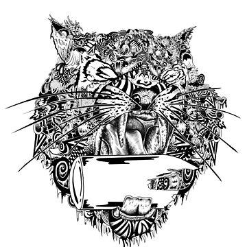 Natures New Look - Tiger Pattern Design  by MarshallArtt