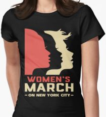 Women March On New York City T Shirt Womens Fitted T-Shirt