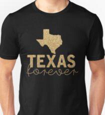 Camiseta unisex Texas Forever en negro