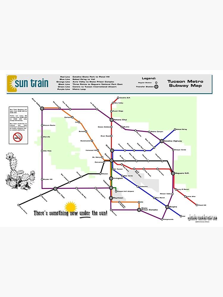 Sun Train - Tucson Metro Subway Map | Canvas Print