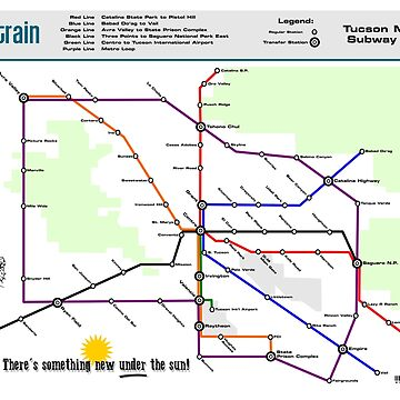 Sun Train - Tucson Metro Subway Map by jcharlesw