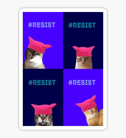 Resist (all 4) Sticker
