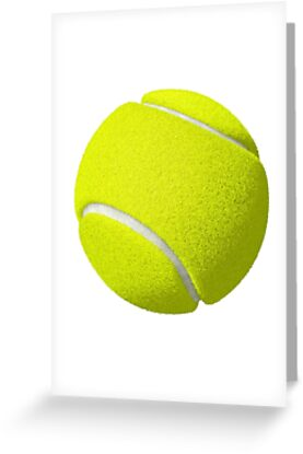 Tennis ball greeting cards by barnsey redbubble tennis ball m4hsunfo