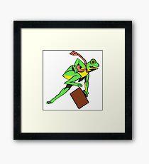 Frogger Frog Framed Print