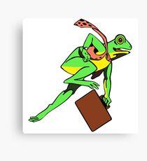 Frogger Frog Canvas Print