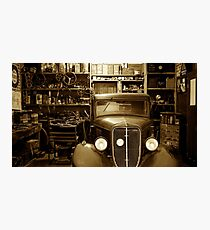 Classic Garage. Photographic Print