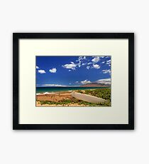 Lonely Surfboard Framed Print