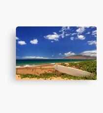 Lonely Surfboard Canvas Print