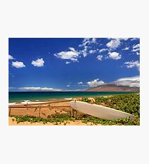 Lonely Surfboard Photographic Print