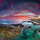 Port Fairy Drone Panoramic Sunset by hangingpixels