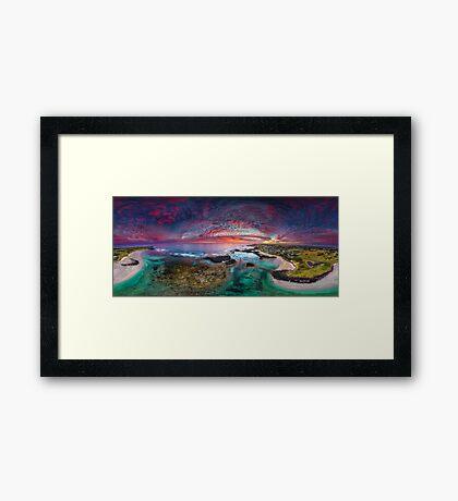 Port Fairy Drone Panoramic Sunset Framed Print