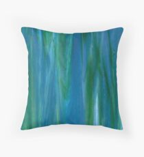 Azure Blue Jade Green Throw Pillow