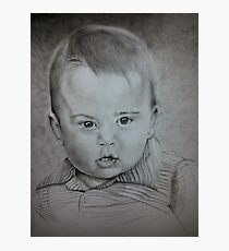Little Prince George Portrait Drawing Photographic Print