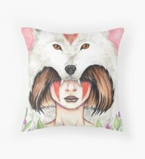 Wolf Queen Throw Pillow