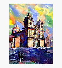Church on the Plaza de Armas- Cusco, Peru Photographic Print