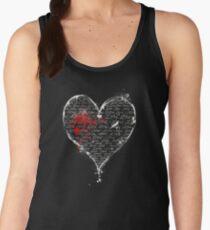 Bleeding Pen and Ink Heart of Love Women's Tank Top