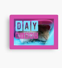 Thinking of You - Hamster 1 - Canvas Print