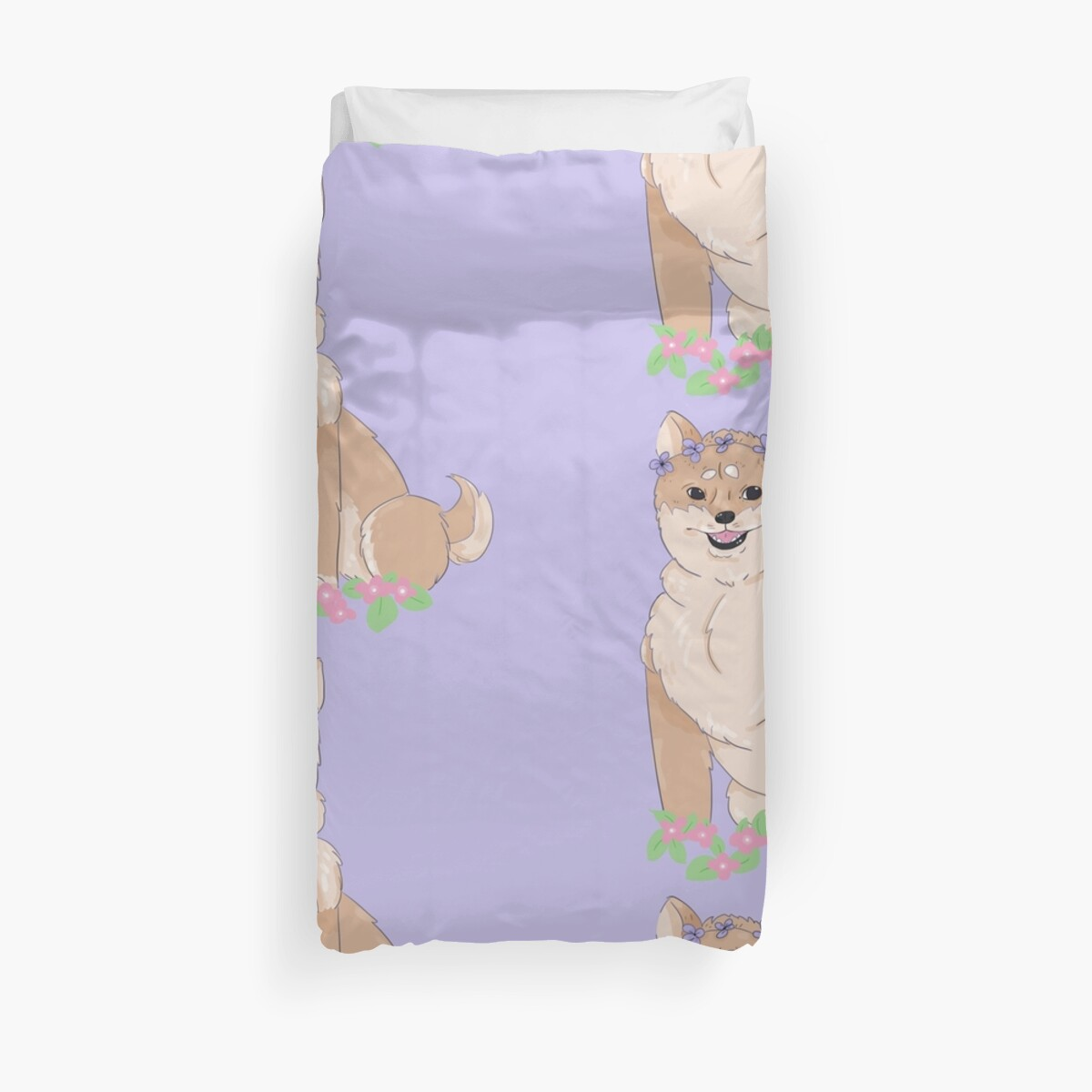 Flower Shibe by Floral-Flannel