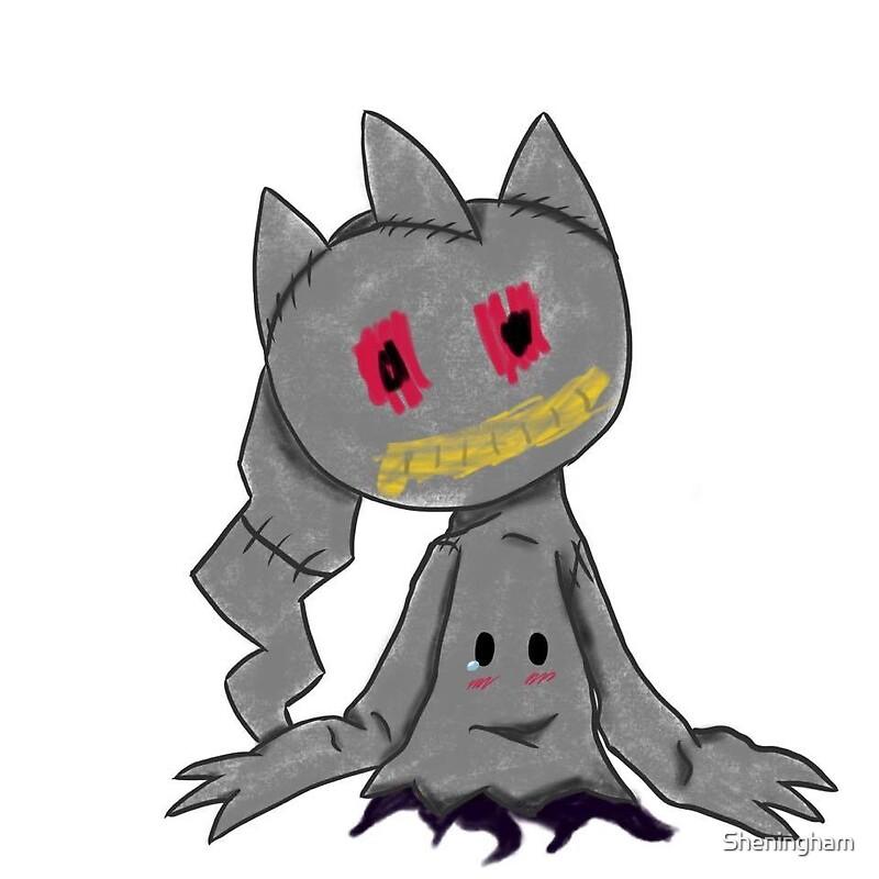Pokemon banette mimikyu stickers by sheningham redbubble - Branette pokemon y ...