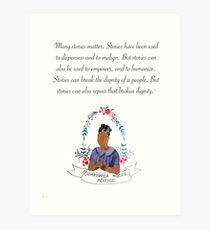 Chimamanda Ngozi Adichie  Art Print