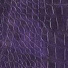 Alligator leather like violet by WAMTEES
