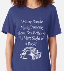 Feel Better At Mere Sight Of A Book Slim Fit T-Shirt