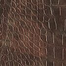 Alligator leather like brown by WAMTEES
