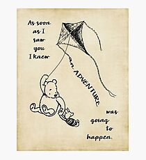 Winnie the Pooh - Adventure Photographic Print