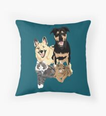 Drogo Bowser Olli and Beau Throw Pillow