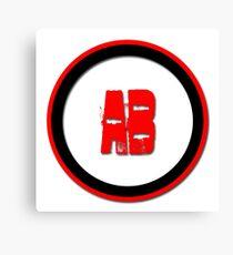 AB- = blood type Canvas Print
