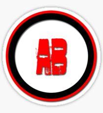AB- = blood type Sticker