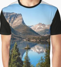 St Mary's Lake, Glacier National Park, MT Graphic T-Shirt