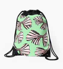 BOWS ON BOWS Drawstring Bag