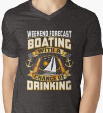 Weekend Forecast Boating With A Chance Of Drinking  Men's V-Neck T-Shirt