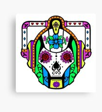 Cybermen Sugarskull Canvas Print