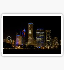 Cubs Symmetrical Skyline Chicago Sticker