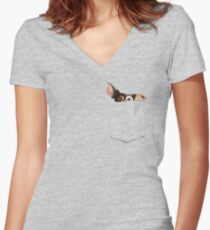 There is a Mogwai in my pocket Women's Fitted V-Neck T-Shirt