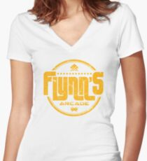 Flynns Arcade Women's Fitted V-Neck T-Shirt