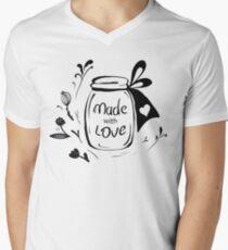 Made with love Mens V-Neck T-Shirt