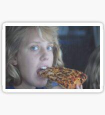 God enjoying a nice slice of pizza Sticker