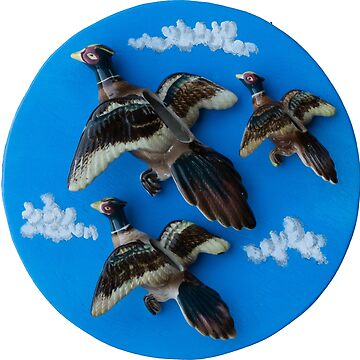 Three Flying Pheasants by Langie