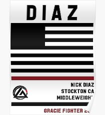 Nick Diaz - Fight Camp Collection Poster