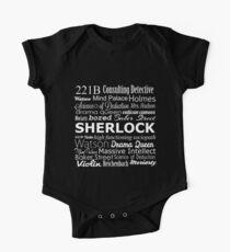 Sherlock in Words One Piece - Short Sleeve