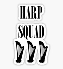 Harp Squad (Black Logo) Sticker