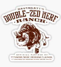 Davengatts Double-Zed Nerf Ranch Sticker