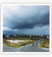 Storm Cloud over Inis Oirr Sticker